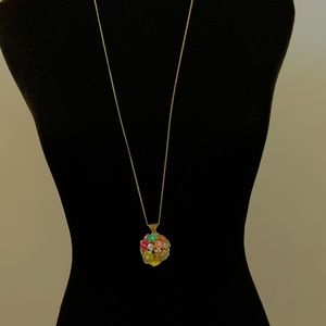 KATY PERRY PRISM RHINESTONE FLOWER BALL NECKLACE